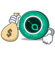 with money bag siacoin character cartoon style vector image vector image