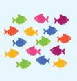 ternetzi color fish vector image