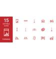 15 farming icons vector image vector image