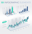 3d infographic elements vector image