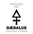 astrology asteroid d vector image vector image