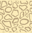 beige safari pattern background giraffe animal vector image