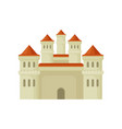 big royal castle in flat style large fortress vector image vector image