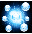 bingo ball explosion vector image vector image