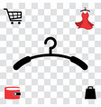 black clothes hanger icon vector image