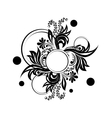 Black floral silhouette for monogram design vector image vector image