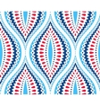 Blue and Red Decorative Pattern vector image