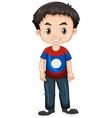 boy from laos smiling vector image vector image