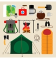 Camping equipment icons