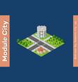 city isometric set vector image vector image