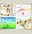 Collect Brochures Design Template vector image vector image