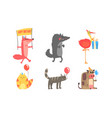Collection cute animals for happy birthday