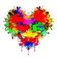 Colorful heart vector image vector image