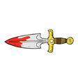 comic cartoon bloody dagger vector image