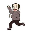 comic cartoon evil old man vector image vector image