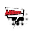 Comic text arrr sound effects pop art vector image vector image