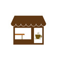 commerce coffee shop store icon vector image