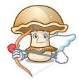 cupid portobello mushroom character cartoon vector image vector image