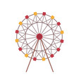 ferris wheel amusement park attraction isolated vector image