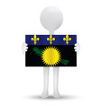 flag of Region of Guadeloupe vector image vector image
