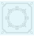 floral frame monogram vector image vector image