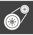 Flywheel vector image