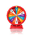 fortune wheel casino roulette luck win spin game vector image