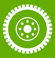 gear wheel icon green vector image vector image