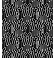 Geometric seamless pattern endless black and white vector image vector image
