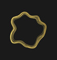 golden abstract shape vector image