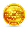 golden cardano coin crypto currency blockchain vector image