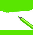 green marker pen spot isolated on a white vector image
