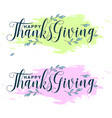 handwritten ink thanksgiving lettering typography vector image vector image
