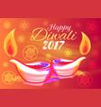 happy diwali 2017 wish vector image vector image