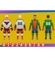ice hockey jersey design vector image vector image