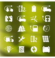 Icon set of electric car and ecology vector image