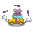 juggling clockwork toy car isolated on mascot vector image vector image