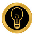 light bulb button on white vector image vector image