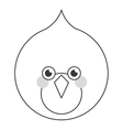 line bird flat icon vector image