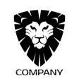 lion shield logo vector image vector image
