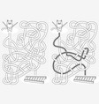 little cat maze vector image vector image