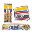 logo colombia vector image vector image