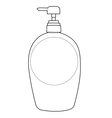 lotion bottle outline vector image vector image