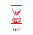 Love hourglass with hearts inside Card vector image vector image