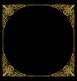 luxurious golden frame in art deco style rich vector image