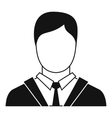 Man in business suit icon simple style vector image vector image