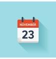 November 23 flat daily calendar icon vector image vector image
