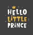 nursery print hello little prince