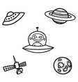 Outer Space Doodles Two vector image