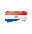 paraguay flag on a white vector image